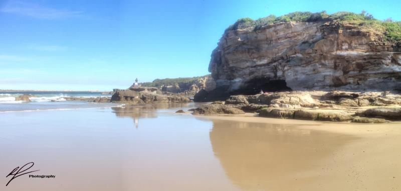 A little ways south of Newcastle in New South Wales is this attractive coastline featuring surprisingly large caves.