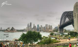 Taken on the 75th anniversary of the Bridge's opening, the day provided stellar views across the city from a vantage point near North Sydney.