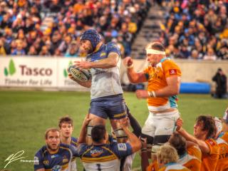 A lineout win for the ACT Brumbies as they host the Hurricanes from New Zealand.
