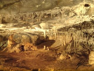 A collection of stalagmites and stalactites from the Jenolan caves complex in New South Wales.