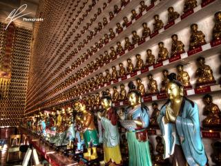 Only a little ways north from Hong Kong, heading towards Mainland China, there is a temple which is host to 10,000 Buddha statues.